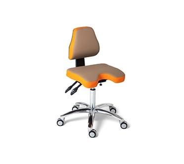 Ergonomische werkstoel - ComfortMove Medical 4 oranje en bruin